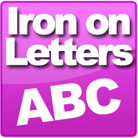 Iron on Digitally cut iron on letters in sizes from 2cm to 20cm, available in 20+ colours.
