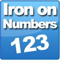 Iron on Number transfers are great to use when