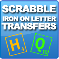 Iron on Make games night your night, with our iron on scrabble letters