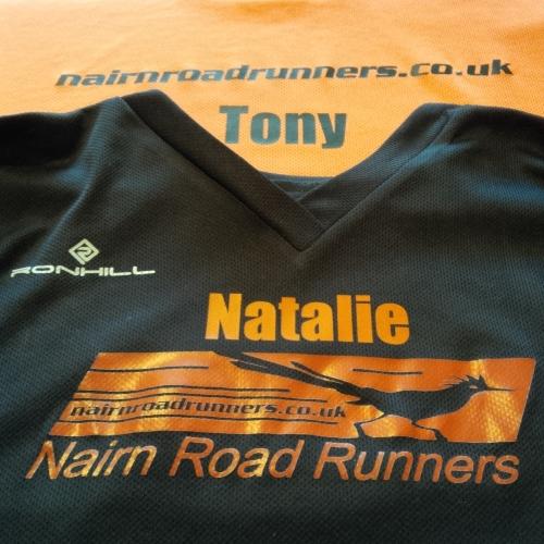 Iron on Marathon Transfer added to existing printing