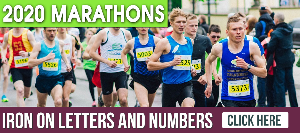 Iron on Transfers for Marathon 2020