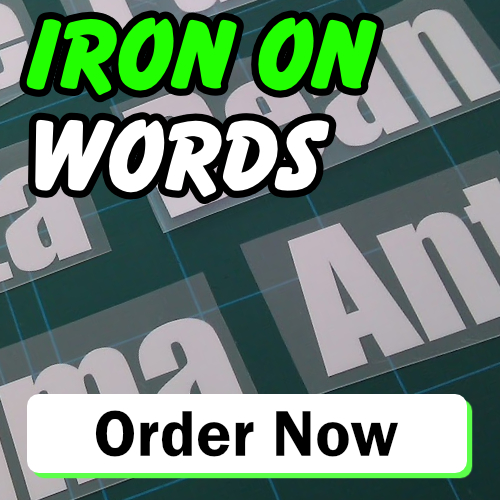 Iron on Words
