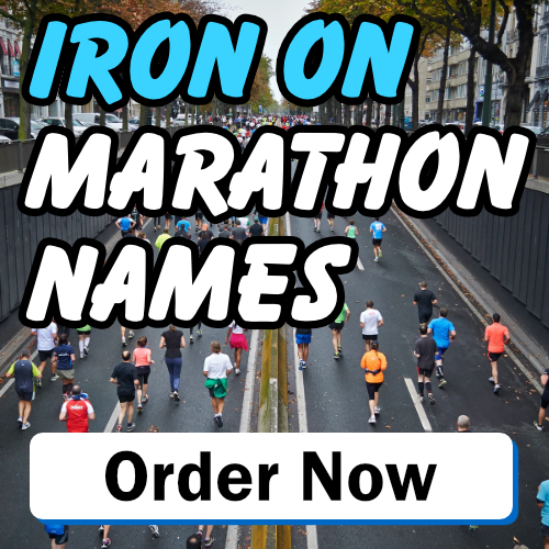 Iron on Marathon Names