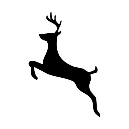 Reindeer Jumping Iron on Transfer