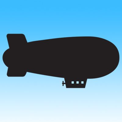 Picture of Blimp Iron on Transfer
