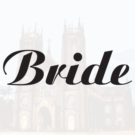Iron on Bride Transfer