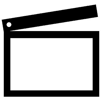 Clapperboard Iron on Transfer