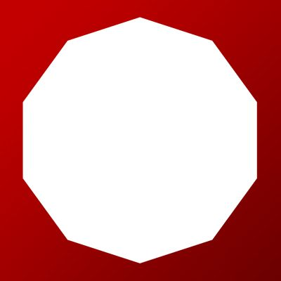 Decagon 10 Sided Iron on Transfer