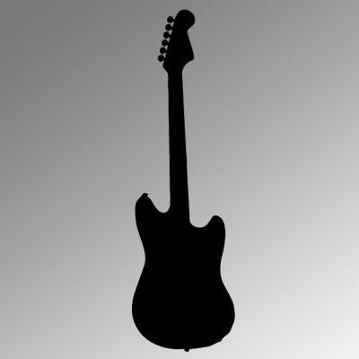Electric Guitar Iron on Transfer