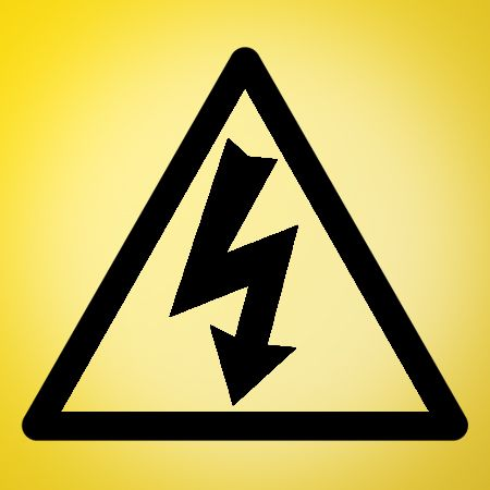High Voltage Sign Iron on Transfer