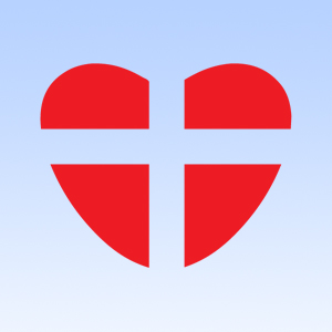 St George Cross as a Heart Iron on Transfer