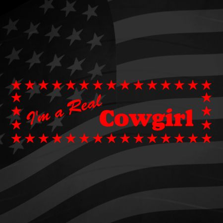 Im a real Cowgirl Iron on Transfer
