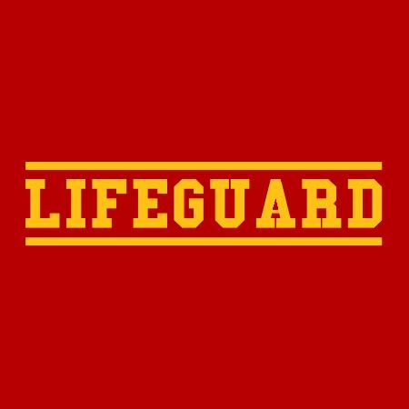 Picture of Lifeguard Iron on Transfer