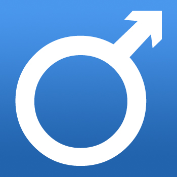 Male Sex Symbol Iron on Transfer