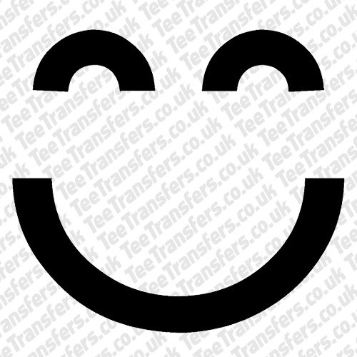 Minimal Smiley Iron on Transfer