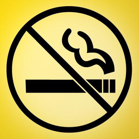 No Smoking Sign Iron on Transfer