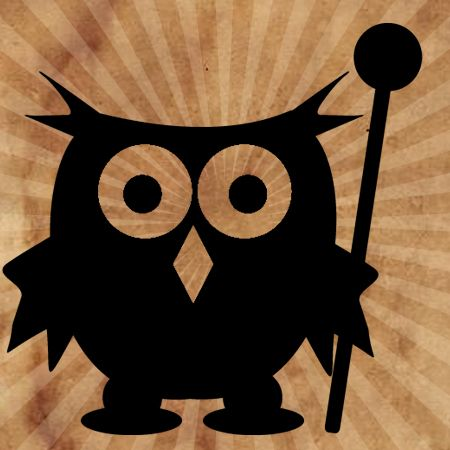 Owl with Magic Staff Iron on Transfer