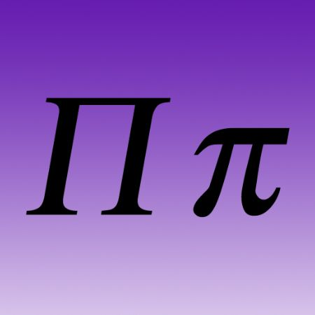 Picture of Greek Letter Iron on Transfer Pi