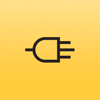 Plug Icon Iron on Transfer