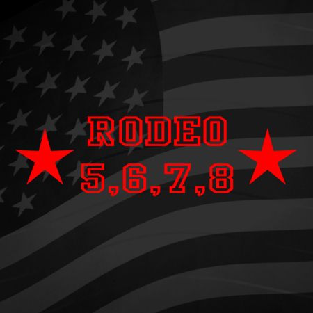 Rodeo 5 6 7 8 Iron on Transfer
