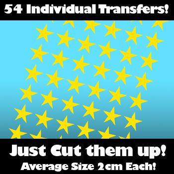 Picture of Multi Pack of 54 Iron on Star Transfers