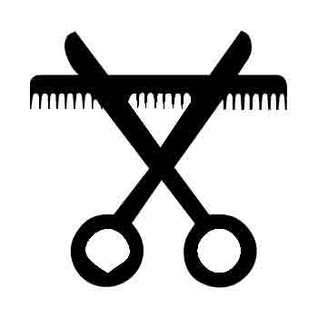 Barbers Comb and Scissors Iron on Transfer