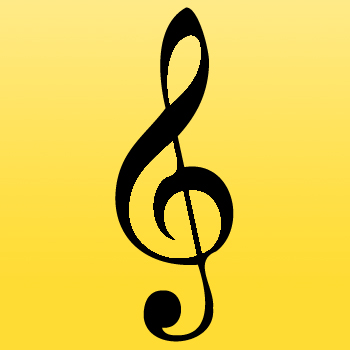 Music Iron on Transfer Treble Clef