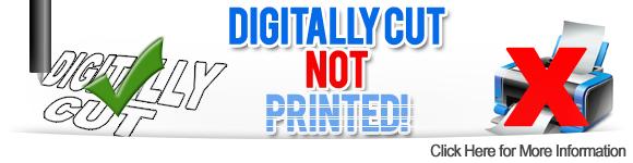 Digitally cut not printed transfers