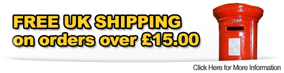 Free UK Shipping over 15 pounds
