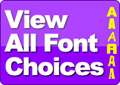 View our Iron on Letter Font Choices