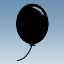 Round Balloon Iron on Transfer