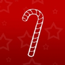 Christmas Candy Cane Iron on Transfer