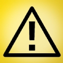 Caution Sign Iron on Transfer