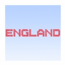 England Word in Dots Iron on Transfer