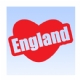 England Love Heart Iron on Transfer