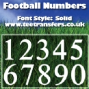 Single Numbers Solid Font Iron on Transfer