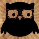 Geek Owl Iron on Transfer