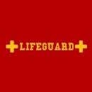 Lifeguard Medic Sign Iron on Transfer