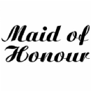 Iron on Maid of Honour Transfer