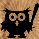 Owl with Sword Iron on Transfer