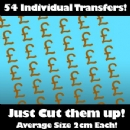 Multi Pack of 54 Iron on Pound Sign Transfers