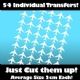 Multi Pack of 54 Iron on Jet Plane Transfers
