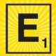 Iron on Scrabble Letter E