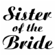 Iron on Sister of the Bride Transfer