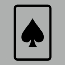 Spades Playing Card Iron on Transfer