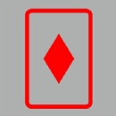 Diamonds Playing Card Iron on Transfer