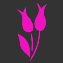 Flower 5 pair of Tulips Iron on Transfer