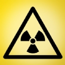 Radiation Sign Iron on Transfer