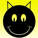 Smiley 10 Black Cat Iron on Transfer